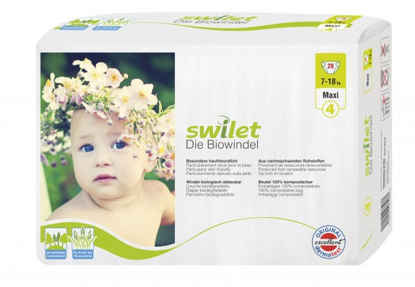 Rogges Wilogis Bio Babywindeln Swilet Gr. 4 - Maxi (7-18 Kg). Swilet Babywindeln - die Biowindel von Wilogis.