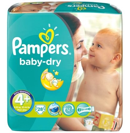 Pampers Baby dry maxi 4+ (9-20 kg) - Babywindeln