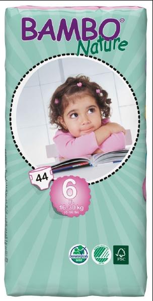 Abena Babywindeln Bambo XL 6 - (16-30 Kg). Saugstarke Babywindeln.