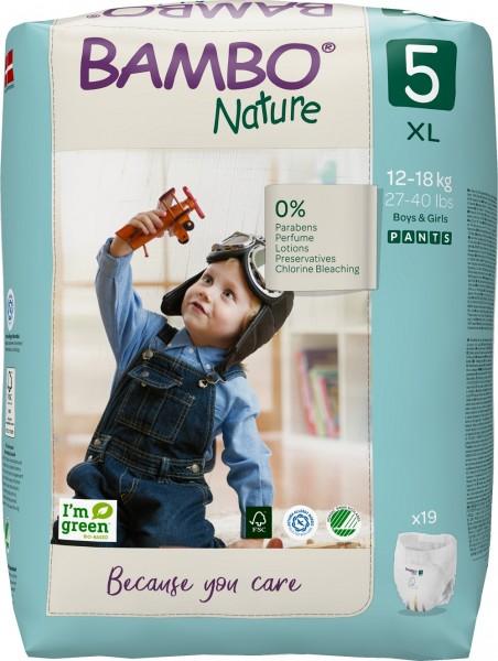 Abena Bambo Nature, Pants 5, 12-18 kg - Babywindeln.