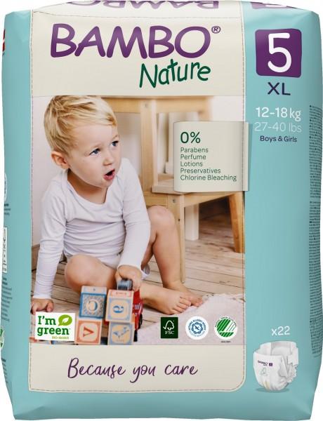 Abena Bambo Nature, 5, 12-18 kg - Babywindeln.