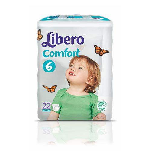 Tena Babywindeln Libero Comfort XL Gr. 6 - (13-20 Kg). Saugstarke Babywindeln von Tena.