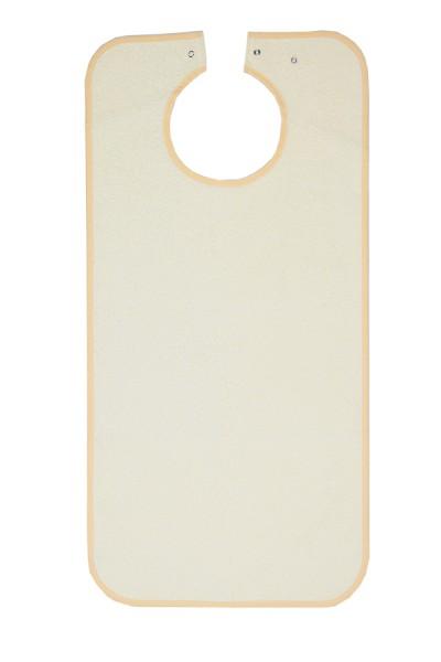 Suprima Ess-Schürze Frottee mit Druckknopfverschluss - Art 5580 - Lätzchen und Esslatz für Erwachsene.