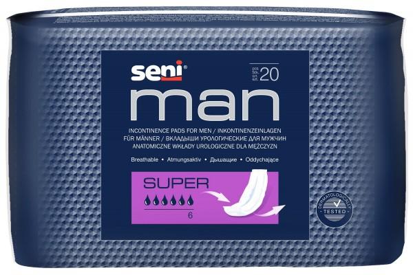 Seni Man Super Inkontinenzeinlagen für Männer.