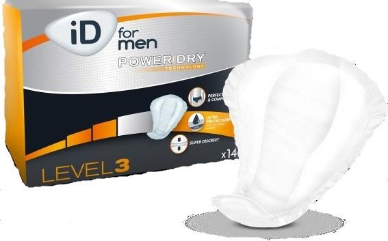 iD for Men Level 3 Herrenvorlage bei Blasenschwäche Mann.