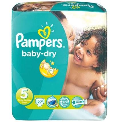 Pampers Baby dry Junior 5 (11-16 kg) - Babywindeln. Pampers sind saugstarke Babywindeln.