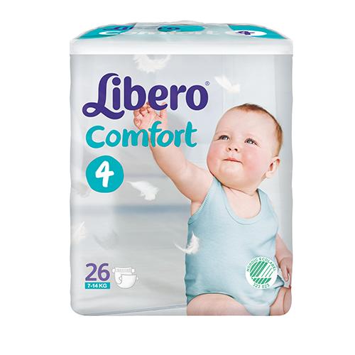 Tena Babywindeln Libero Comfort Maxi Gr. 4 - (7-11 Kg). Saugstarke Babywindeln von Tena.