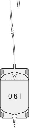 Urinbeutel, Beinbeutel und Fußgängerbeutel von Manfred Sauer mit 600 ml.