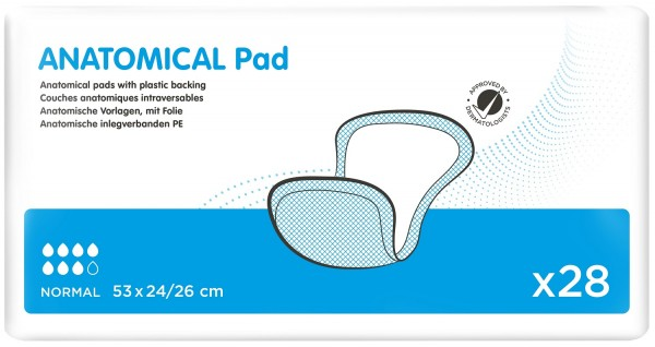 iD Ontex Anatomical Pad Normal with Strip 53x24