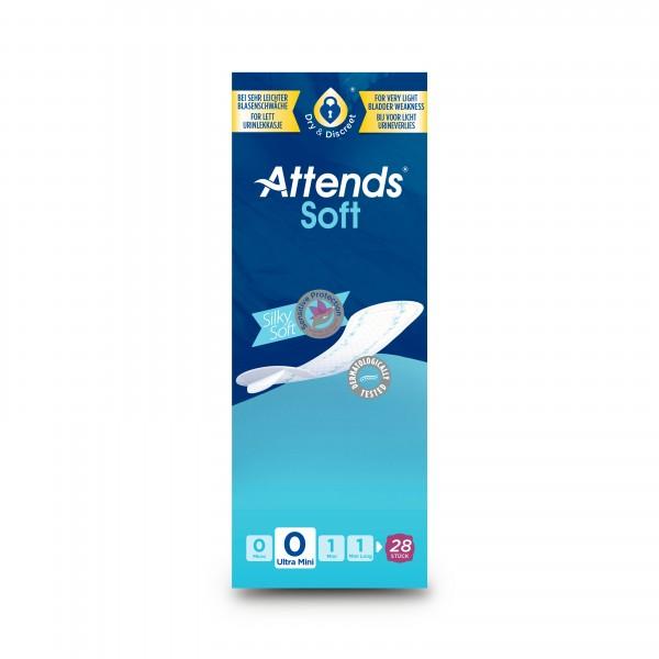 Attends Soft 0 Ulra Mini, Hygiene-Einlagen, bei sehr leichter Blasenschwäche.
