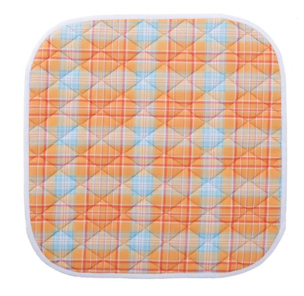 Suprima Sitzauflage, orange-kariert, Polyester - 40x50cm - Art 3707.