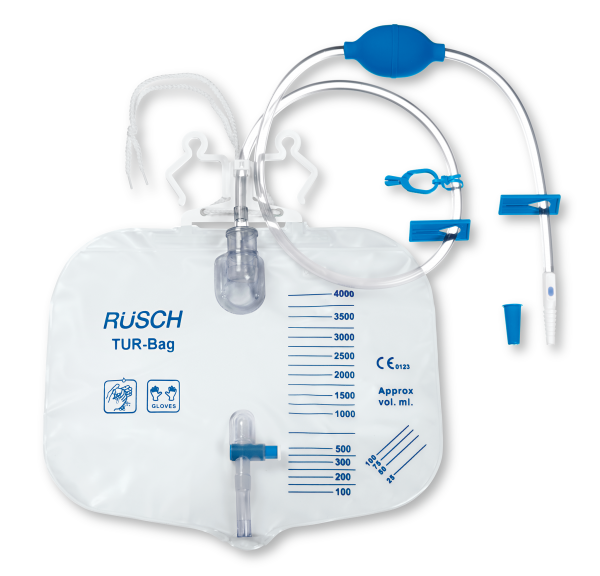 Teleflex Rüsch TUR-Bag mit Handpumpe - 4000ml, 120cm - PZN 09482437
