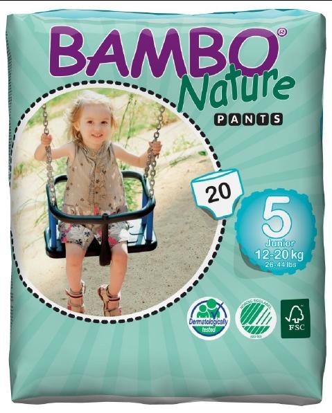 Abena Babywindeln Bambo Pants Junior 5 - (12-20 Kg). Saugstarke Babywindeln.