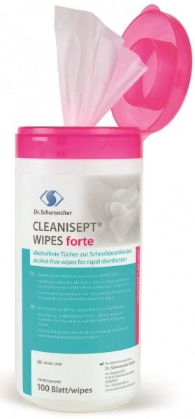 Dr. Schumacher CLEANISEPT® WIPES forte Desinfektionstücher.