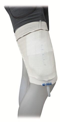 GHC Care Fix Fixierstrumpf Beinbeutel-Halterung. Beinbeutelfixierstrumpf mit integrierter Beuteltasche