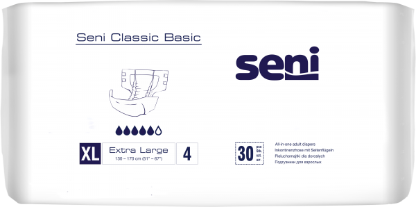 Seni Classic Basic Extra Large - Windelhosen für Erwachsene.