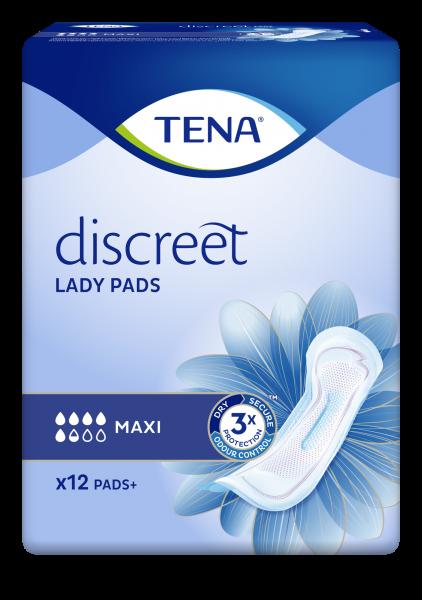 TENA Lady Discreet Maxi Inkontinenz-Einlagen.