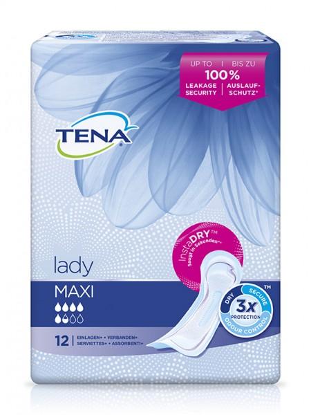 Tena Lady Maxi Inkontinenz-Einlagen bei Blasenschwäche.