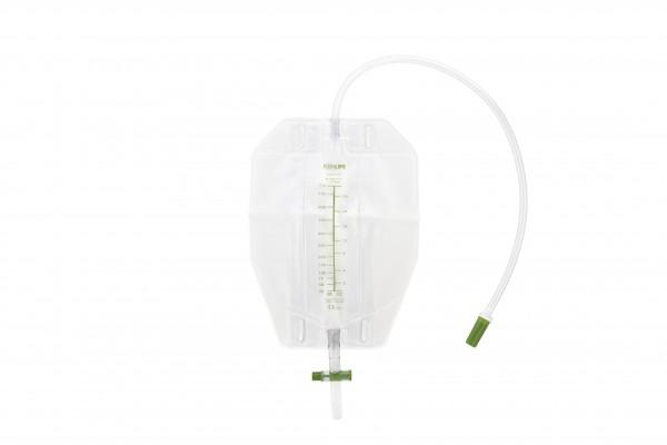 ForLife Konticur Urin-Beinbeutel mit Ablauf, 500 ml, 50 cm, steril - PZN 12465595.