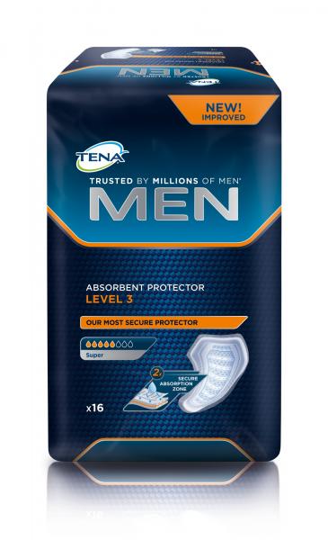 TENA MEN Level 3 Inkontinenz-Einlagen für Männer.