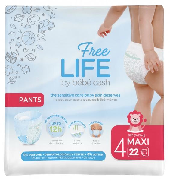 BébéCash Freelife Pants Maxi, Gr. 4, (8-15 Kg) - Babywindeln