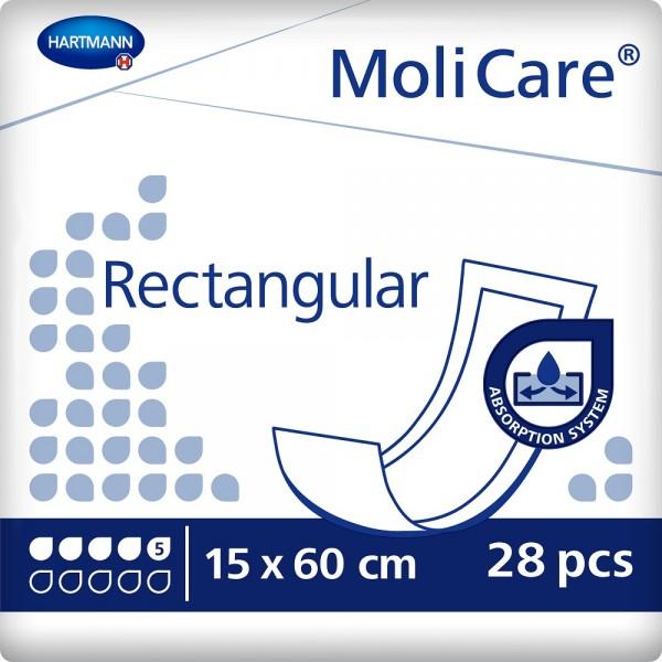 MoliCare® Rectangular 5 Tropfen (15x60 cm) - Saugvorlage.