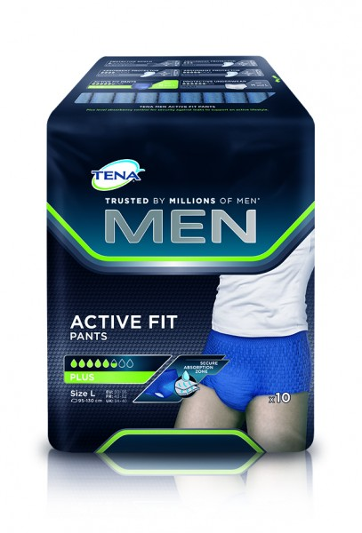 Tena Men Active Fit Pants Plus Large bei Blasenschwäche.