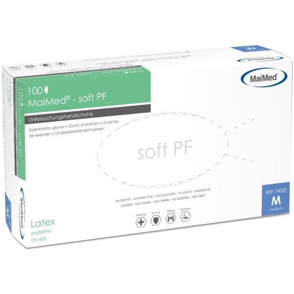 MaiMed® soft PF Einmalhandschuhe, Latex, ungepudert - Gr. X-Large