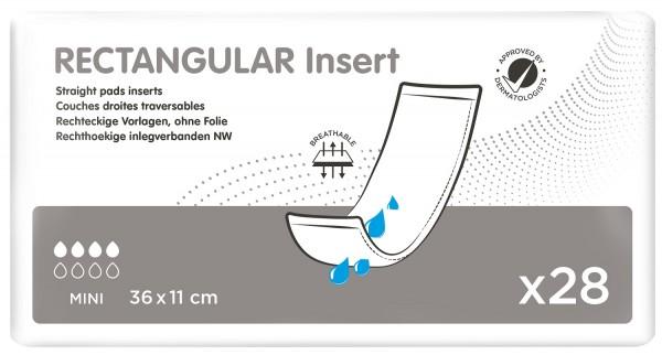 iD Rectangular Insert Mini without Strip - (36X11 cm)