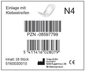ID - N4 - Hygiene-Einlage mit Klebestreifen - Ontex.