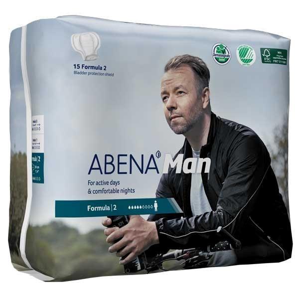 Abena Man Formula 2. Inkontinenzeinlagen speziell für Männer von Abena.