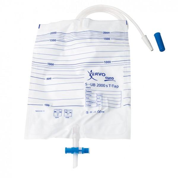 Servona Servocura Urin-Bettbeutel 2000 ml steril, mit Ablass, S-UB 2000s T-Tap - PZN 05491592