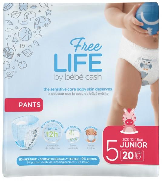 BébéCash Freelife Pants Junior 5 (12-18kg) Babywindeln.