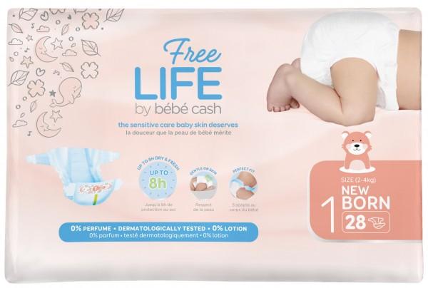 Babywindeln BébéCash-Freelife - Newborn 1 - (2-4 kg).