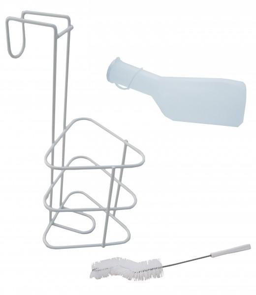 Urinflaschenset Basic ohne Deckel (Mann) -1 Liter - PZN 08047402