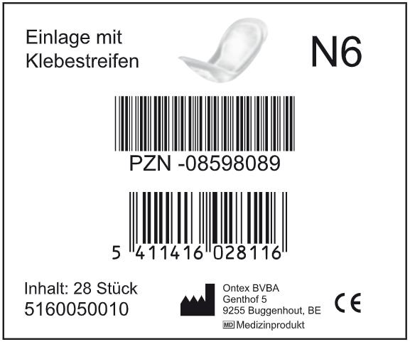 ID - N6 - Hygiene-Einlage mit Klebestreifen (40,5 x 15,5 cm)