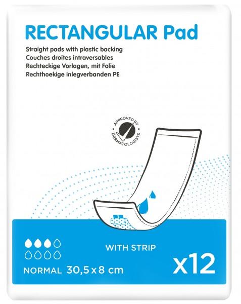 iD Rectangular Pad Normal with Strip - (30,5X8 cm)