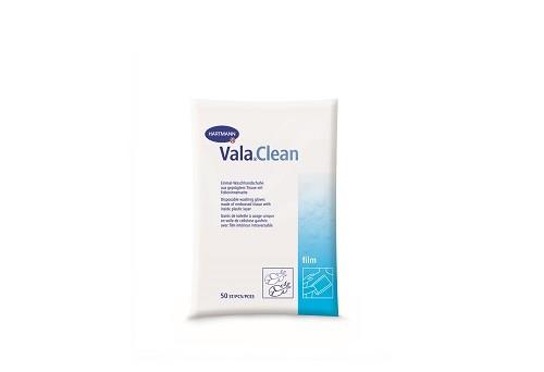 Vala®Clean film Einmal-Waschhandschuhe mit weich geprägter Oberseite