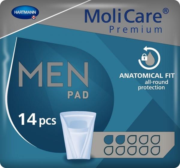 MoliCare Premium MEN PAD - 2 Tropfen - Inkontinenzeinlagen