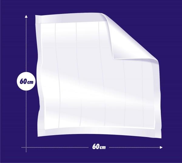 Seni Soft Normal Krankenunterlagen 90x60 cm - saugende Bettschutzeinlagen
