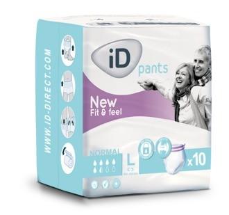 iD Pants Normal Large - Einweghosen, Inkontinenzslips und Windelslips von Ontex.