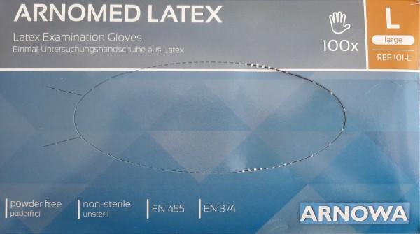 Arnomed® Latex Einmalhandschuhe - Gr. Large.