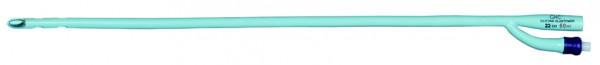 GHC CARE FLOW. Transurethrale Silikonelastomerkatheter 2-Wege Ballonkatheter mit Couvelairespitze.