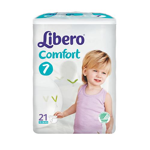 Tena Babywindeln Libero Comfort XL Plus - Gr. 7 - (16-26 Kg). Saugstarke Babywindeln von Tena.
