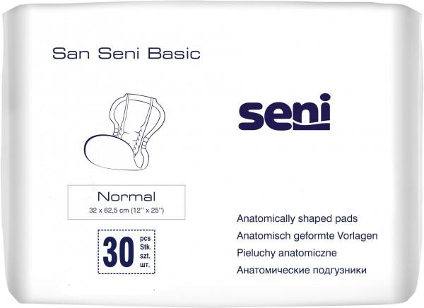 San Seni Basic Normal Inkontinenzvorlagen bei Blasenschwäche.