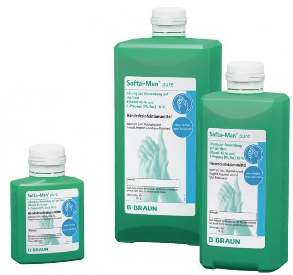 B. Braun Softa Man® pure Händedesinfektion - 100 ml - Kittelflasche