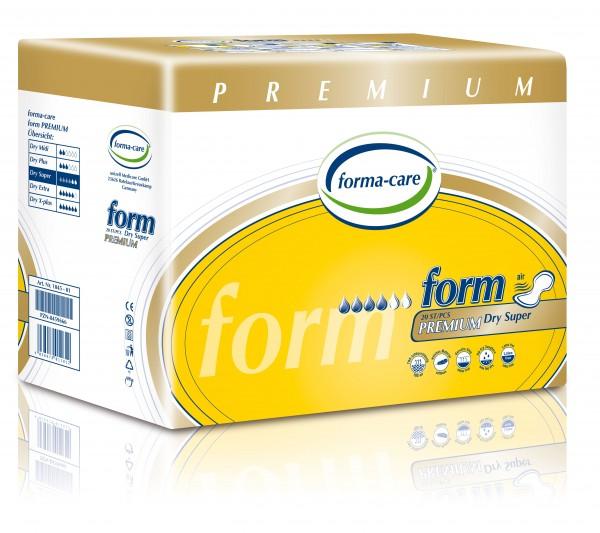 Forma-Care Form Premium Dry - Super sind saugstarke Form-Vorlagen bei mittlerer bis schwerer Inkontinenz und Blasenschwäche.
