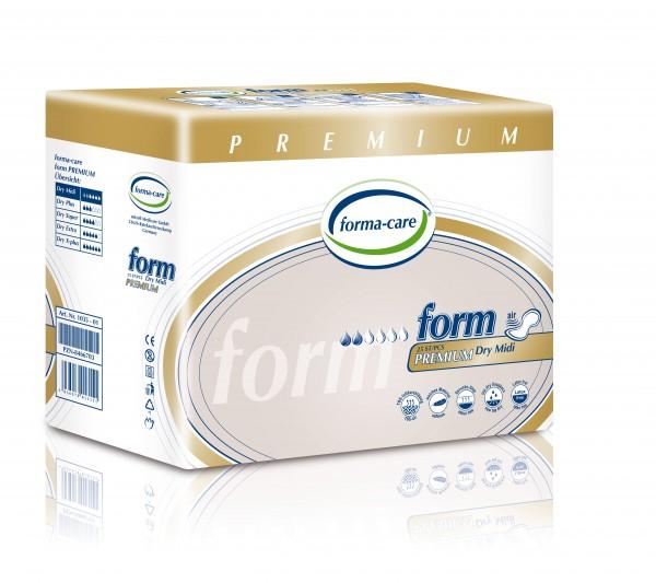 Forma-Care Form Premium Dry - Midi sind saugstarke Form-Vorlagen bei mittlerer bis schwerer Inkontinenz und Blasenschwäche.
