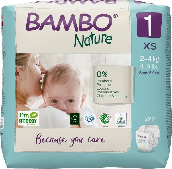 Abena Bambo Nature, 1, 2-4 kg - Babywindeln.