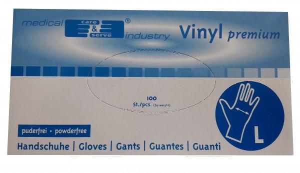 medical care & serve industry Vinyl premium, pf., Handschuhe - Gr. L